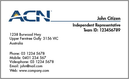 ACN Thum ACN Business Cards