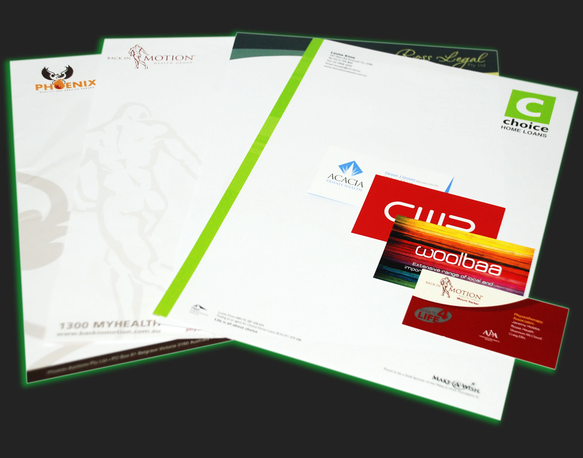 Sample letterheads