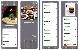 modern menu Menu Printing