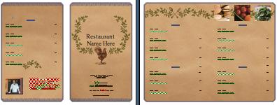 natural menu Menu Printing