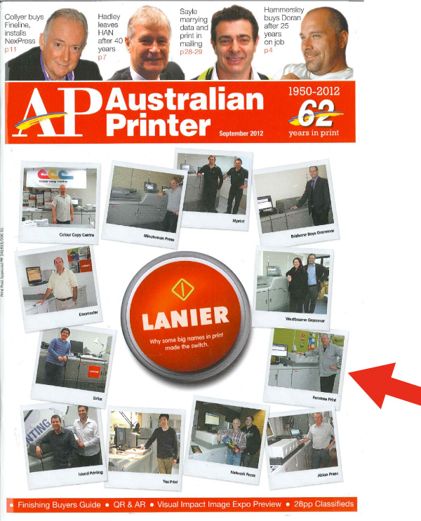australian printer cover Ferntree Print on the cover of Australian Printer